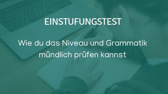 Kĩ năng nói tiếng Đức - Ngữ pháp
