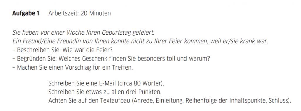 Kỹ năng viết tiếng Đức Teil 1