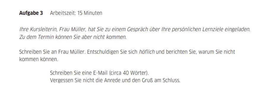 Kỹ năng viết tiếng Đức Teil 3