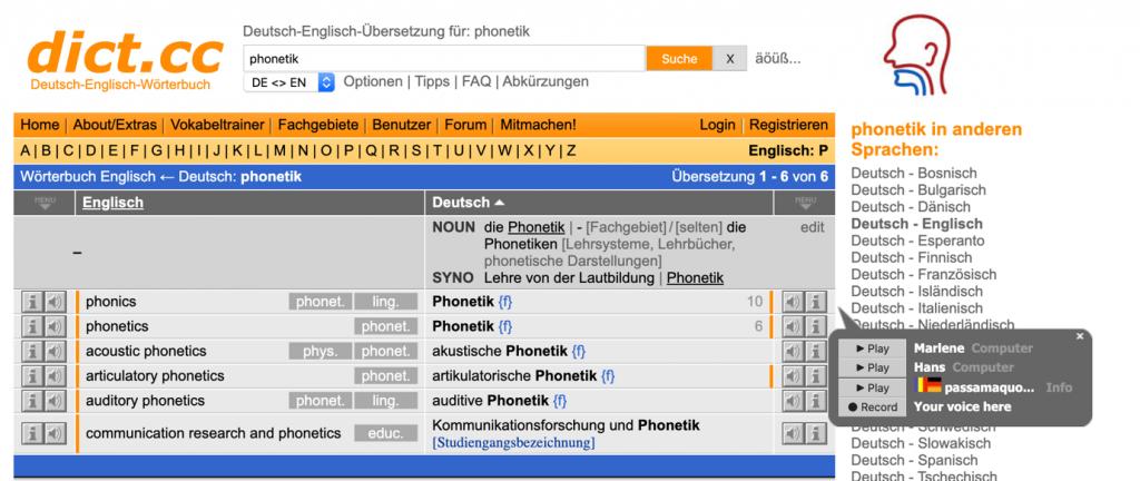 Sử dụng phần mềm trực tuyến để học cách phát âm từ vựng