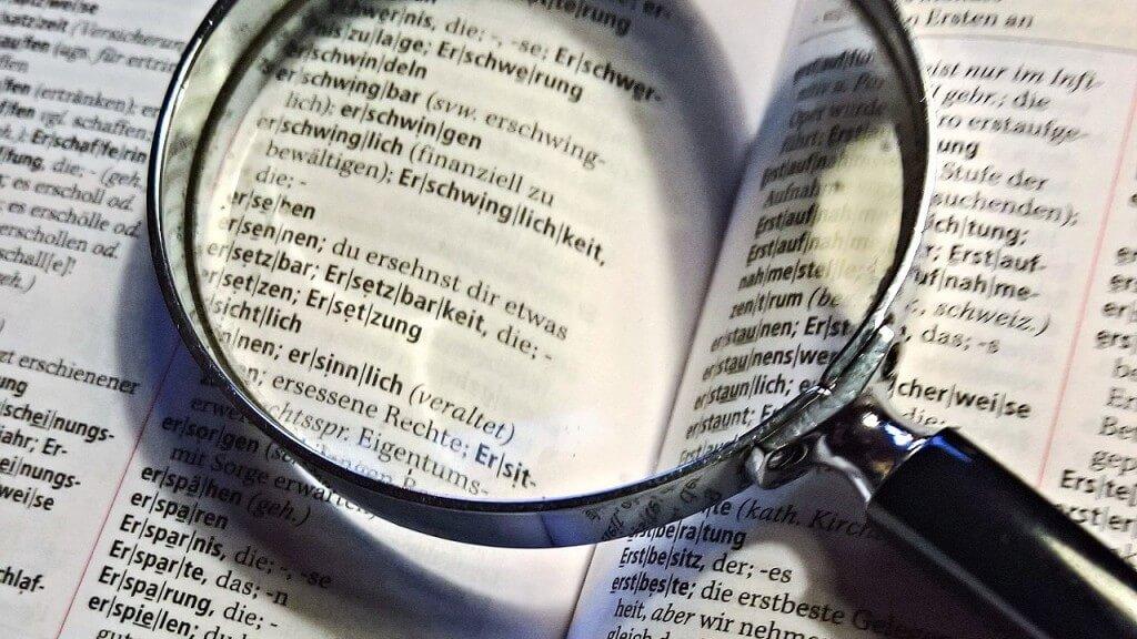 tra cứu từ vựng bằng cách sử dụng từ điển học tiếng Đức